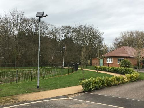 New lamp posts at The Toppings Develpopment
